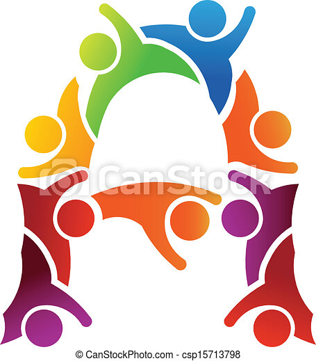 A letter people logo - csp15713798