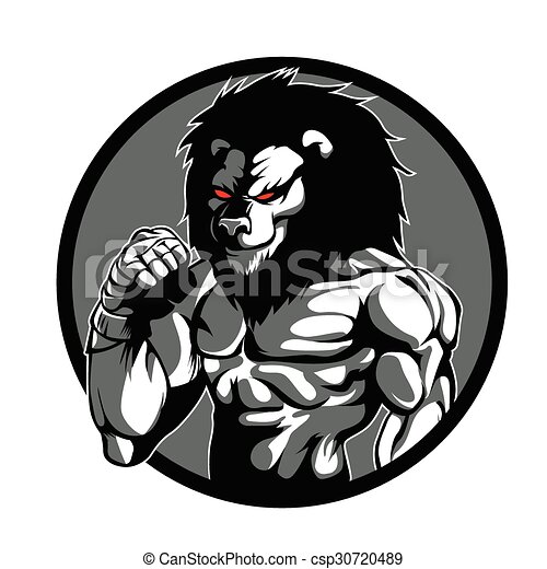 a lion man character mma fighter pose vector search clip art rh canstockphoto com mma clipart free mma fighting clipart