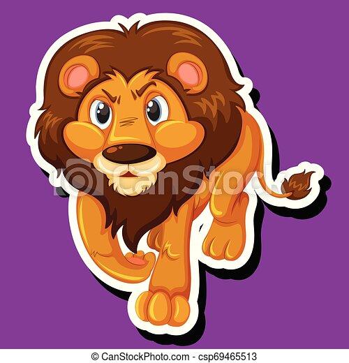 A lion sticker character - csp69465513