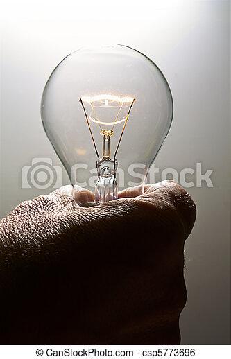 A lit light bulb - csp5773696