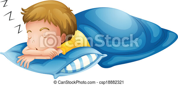 A little boy sleeping - csp18882321