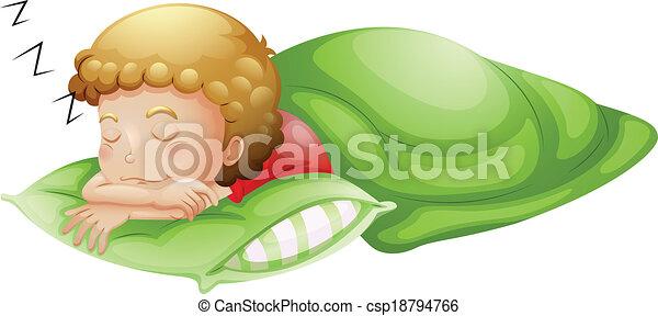 A little boy sleeping soundly - csp18794766