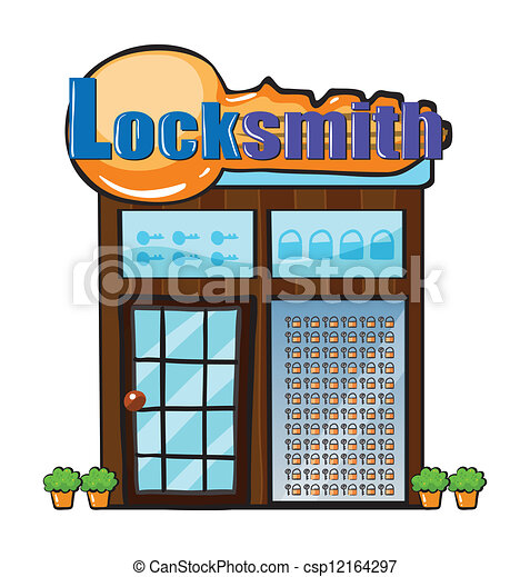 A locksmith shop - csp12164297