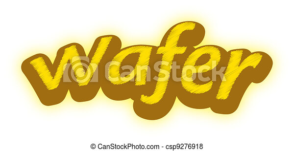 A logotype for a wafer brand - csp9276918