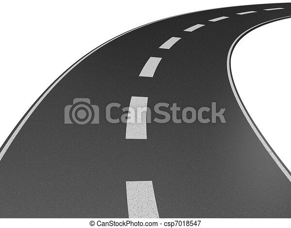 a long road  - csp7018547
