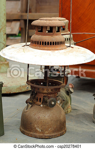 A lot of vintage dirty oil lamp - csp20278401