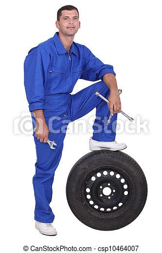 a man car mechanic - csp10464007