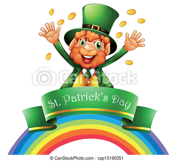 A man celebrating the day of St. Patrick - csp13190351