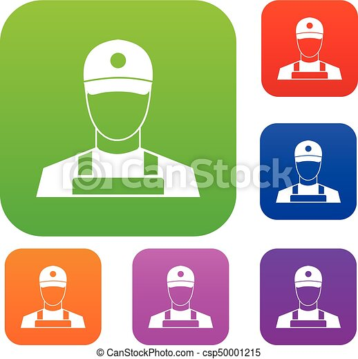 A man in a cap and uniform set collection - csp50001215
