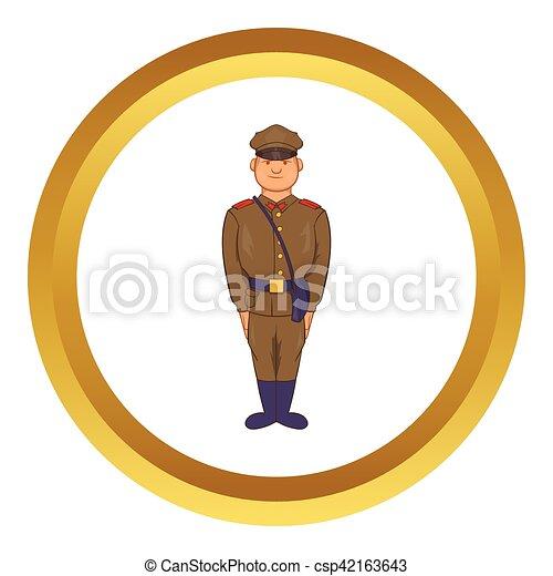A man in army uniform vector icon - csp42163643