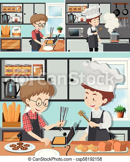 A Man in Cooking Class - csp58192158