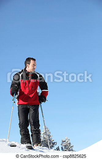 a man skiing - csp8825625