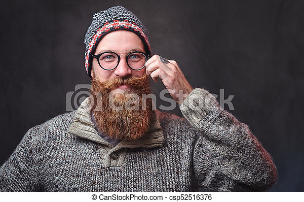 A man with red beard. Portrait of a bearded redhead male in ... 0cf8936c4189