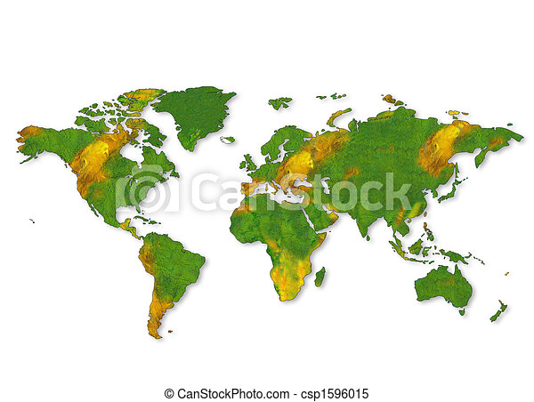 A map of the world - csp1596015