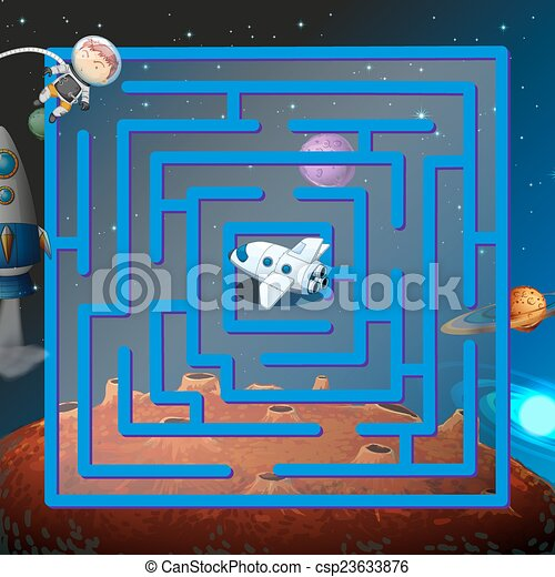 A maze game in the outerspace - csp23633876