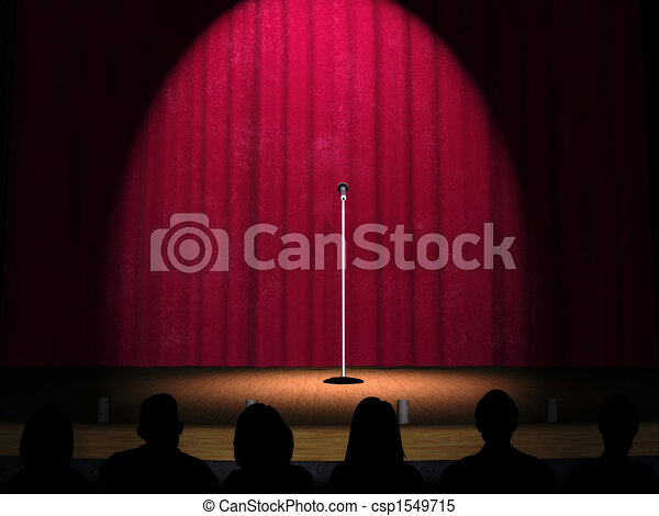 A microphone on a stage - csp1549715