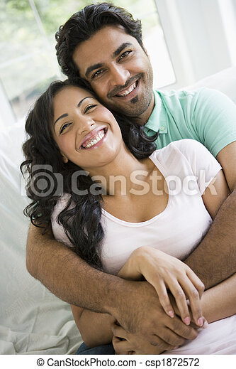 A Middle Eastern couple cuddling - csp1872572