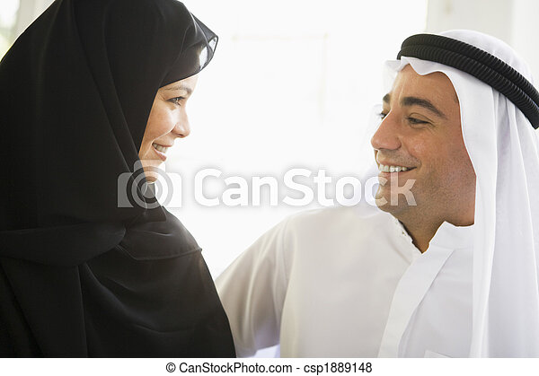 A Middle Eastern couple - csp1889148