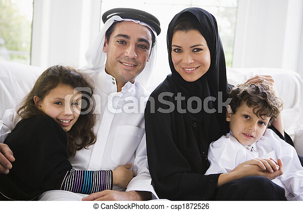 A Middle Eastern family - csp1872526