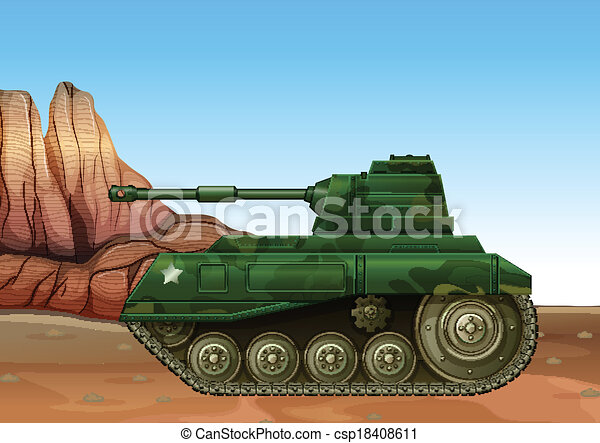 A military fighter tank - csp18408611