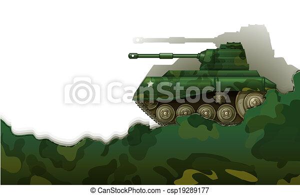 A military tank - csp19289177