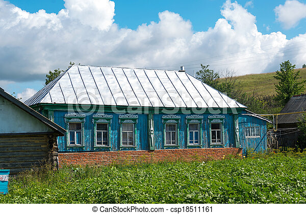 A modern country house in Russia - csp18511161