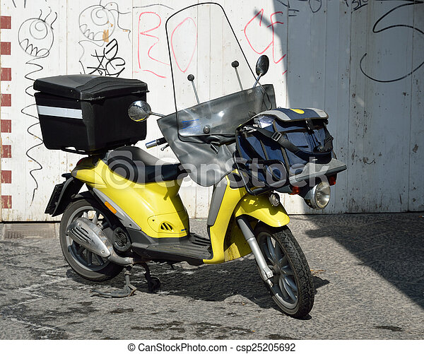 A modern scooter in the Italian city - csp25205692