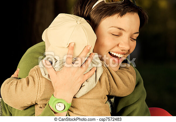 A mother and child  - csp7572483