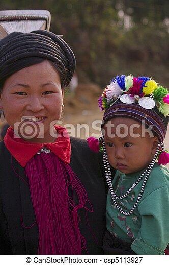 A mother black ethnic Dao Tien - csp5113927