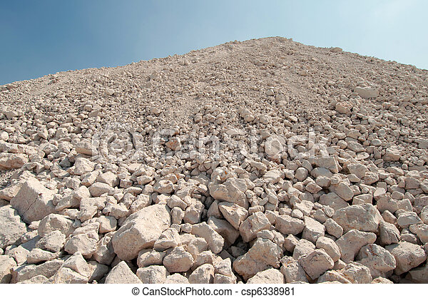 a mound of rubble  - csp6338981