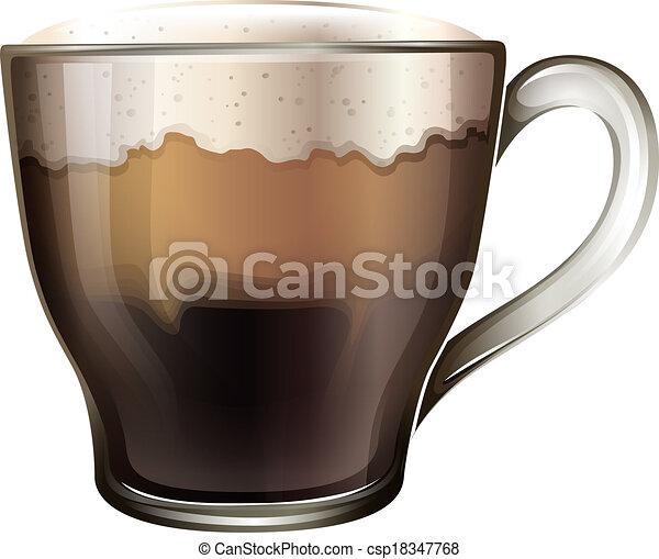 A mug of coffee - csp18347768