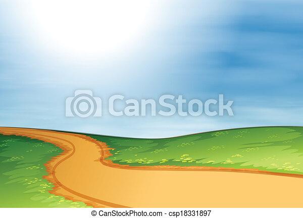 A narrow pathway - csp18331897