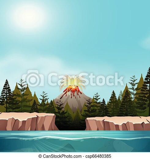 A nature volcano landscape - csp66480385