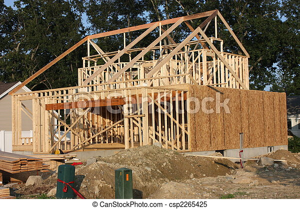 A new house under construction  - csp2265425