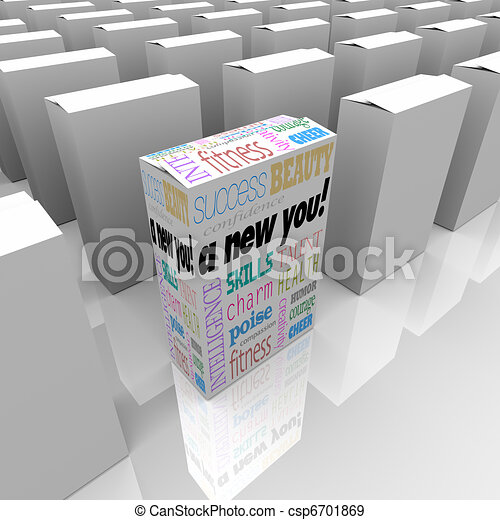 A New You Self Improvement in Box for Instant Success - csp6701869