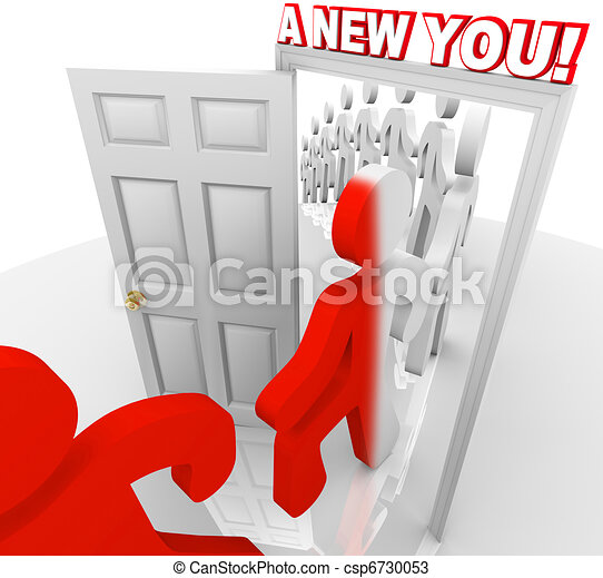 A New You - Walk Through the Doorway of Self Improvement - csp6730053