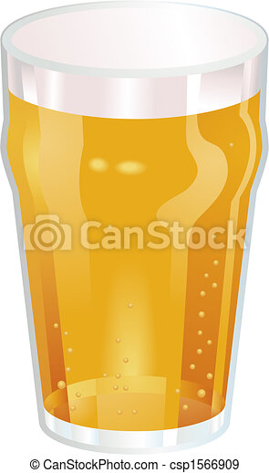 A Nice Pint of Beer Vector Illustration - csp1566909