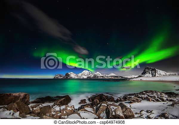 A Northern Lights Explotion A Raging Lady Aurora Performing An Amazing Light Show Above Mt Himmeltindene In Lofoten Island