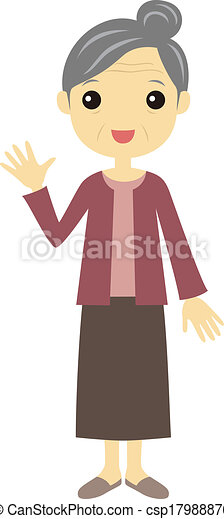 a old lady waving a standing old lady waving her hand vectors rh canstockphoto com funny old lady clipart crazy old lady clipart