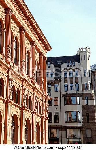 A old street in the Riga - csp24119087