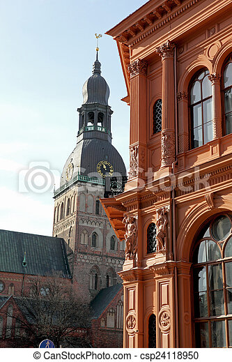 A old street in the Riga - csp24118950