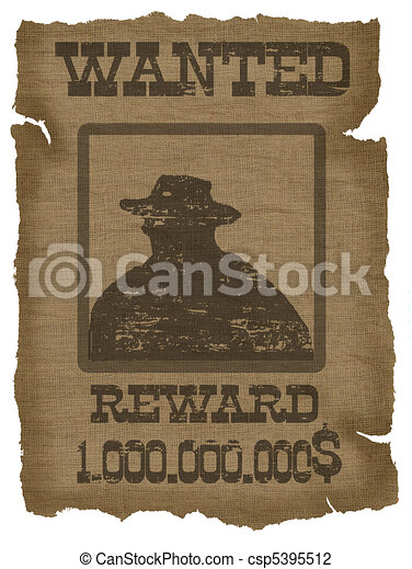 A old wanted poster with a cowboy silhouette clip art - Search ...