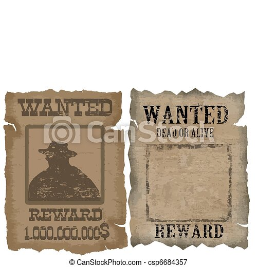 A old wanted posters - csp6684357