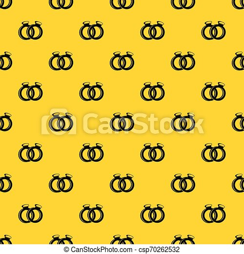 A Pair Of Gold Wedding Rings Pattern Vector