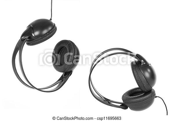 A pair of headphones - csp11695663