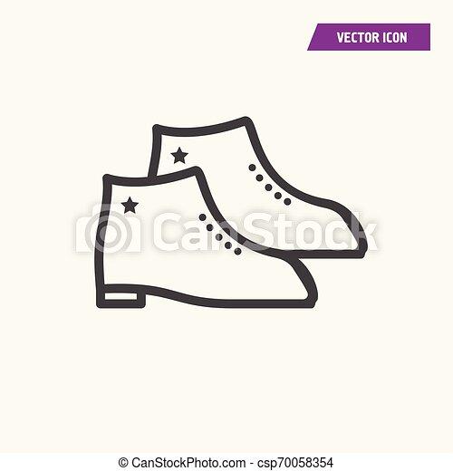 A pair of men shoes icon. - csp70058354