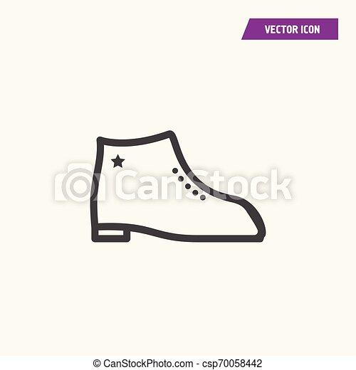 A pair of men shoes icon. - csp70058442