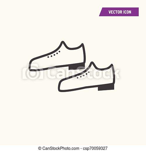 A pair of men shoes icon. - csp70059327