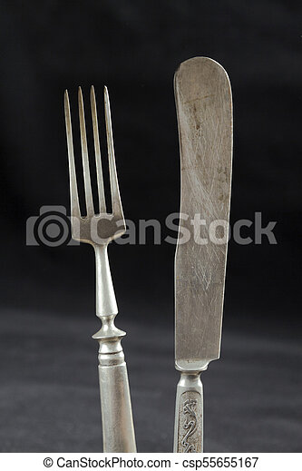 A pair of old cutlery - csp55655167