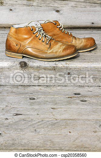 A pair of old shoes - csp20358560